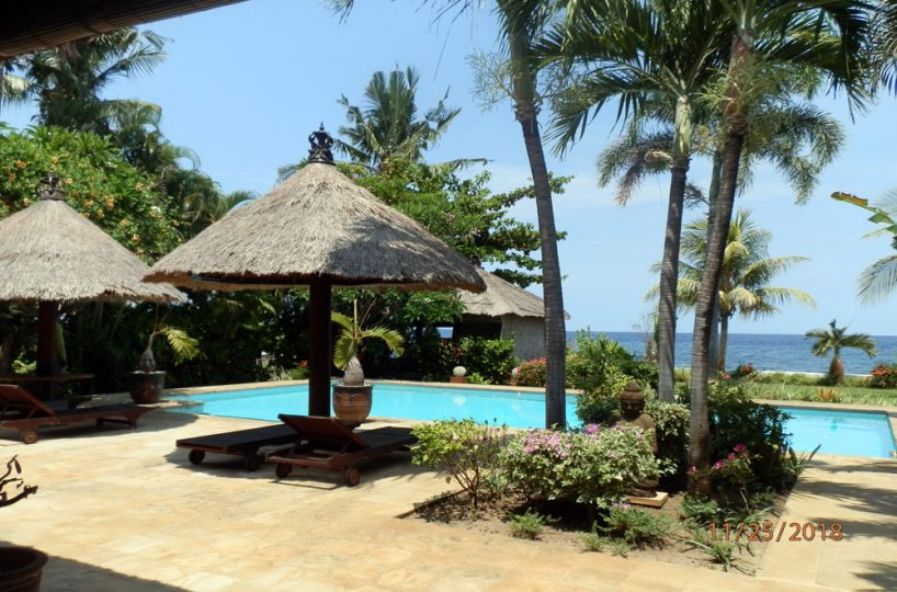 bali beachfront villa for rent with private pool