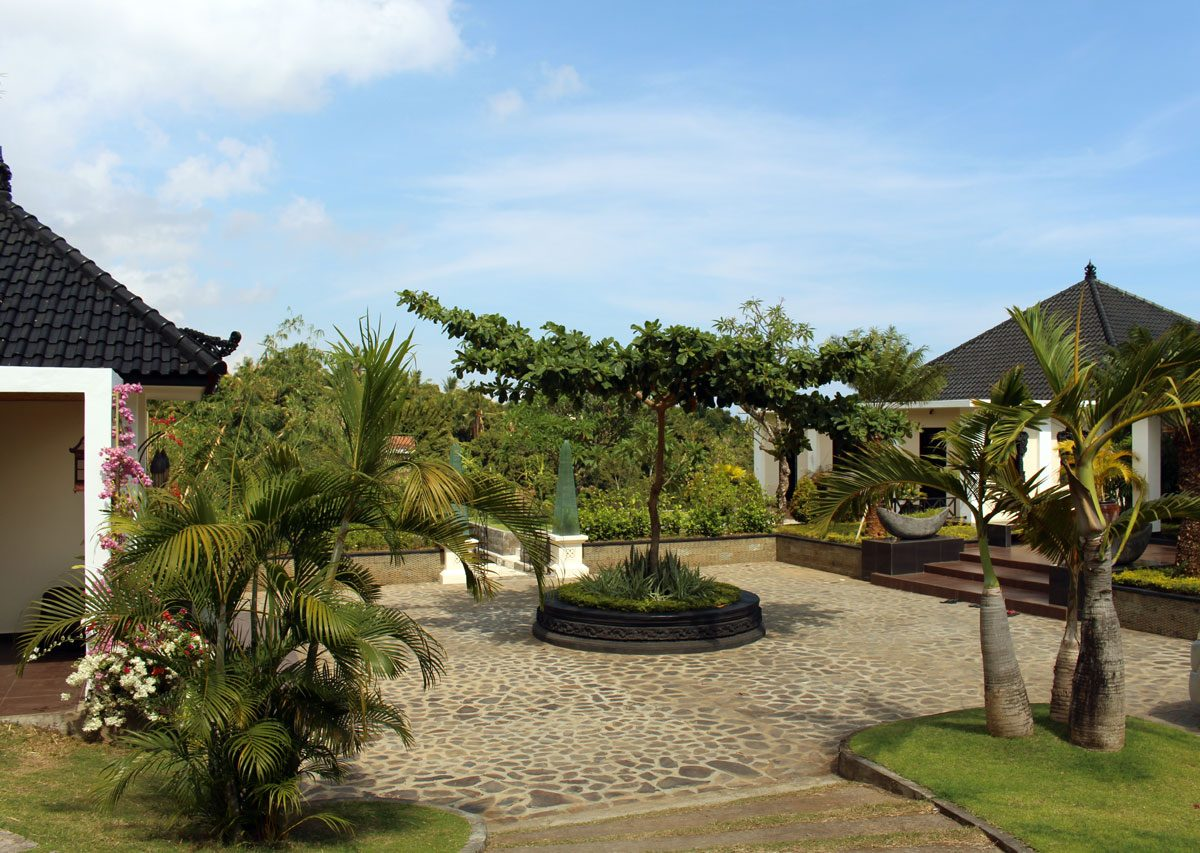 bali vill with view