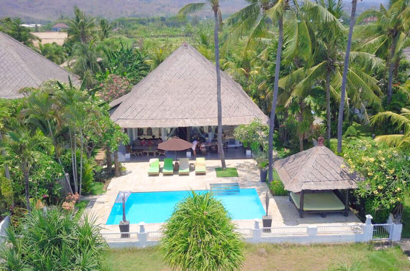 bali oceanfront villa for rent